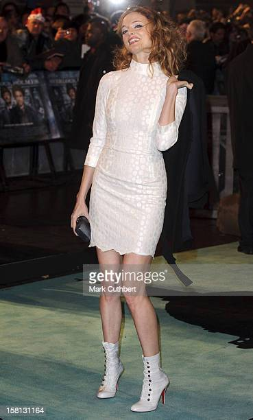 Heather Graham Arrives At The World Premiere Of Sherlock Holmes At The Empire In Leicester Square,London.