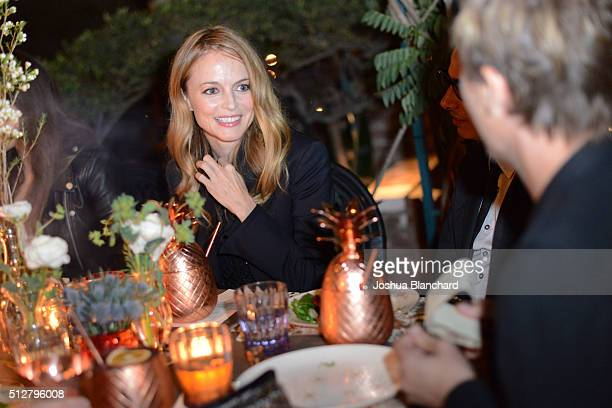 Heather Graham attends Dana Brunetti's Pre Oscar party hosted by Steve Shaw at the private residence of Jonas Tahlin CEO of Absolut Elyx on February...