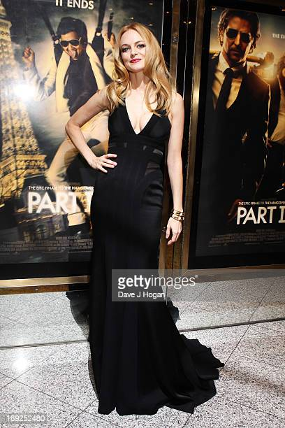 Heather Graham attends the European Premiere of 'The Hangover Part III' at The Empire Leicester Square on May 22 2013 in London England
