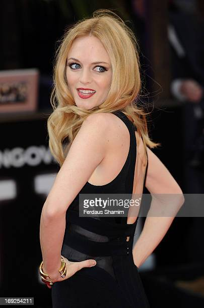 Heather Graham attends The Hangover III UK film premiere at The Empire Cinema on May 22 2013 in London England
