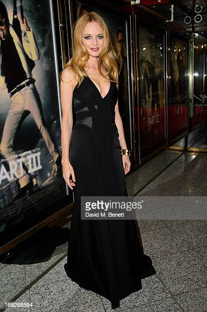 Heather Graham attends the UK Premiere of 'The Hangover III' at The Empire Cinema on May 22 2013 in London England
