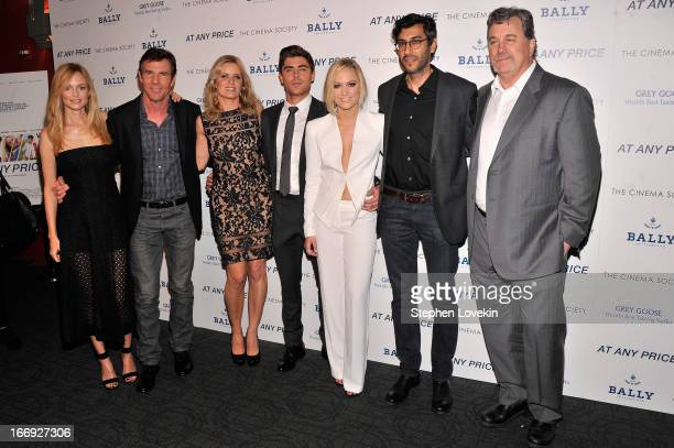 Heather Graham Dennis Quaid Kim Dickens Zac Efron Maika Monroe Ramin Bahrani and Tom Bernard attend the Cinema Society Bally screening of Sony...