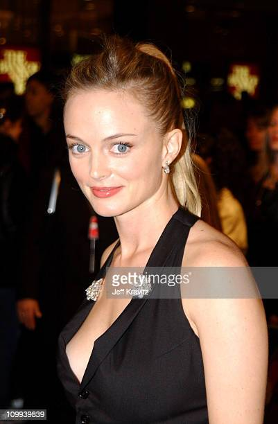 Heather Graham during 2002 VH1 Vogue Fashion Awards Arrivals at Radio City Music Hall in New York City New York United States