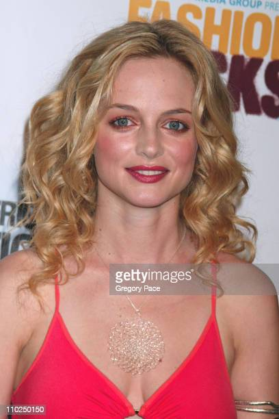 Heather Graham during 2005 Fashion Rocks Red Carpet Arrivals at Radio City Music Hall in New York City New York United States