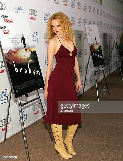 Heather Graham during AFI Fest 2006 Presented by Audi Presents Broken Arrivals at Arclight in Hollywood California United States