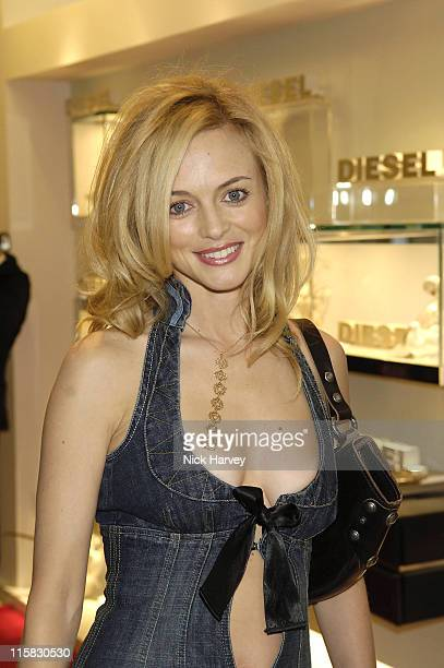 Heather Graham during Diesel Store Launch Party – Inside at Diesel Bond Street in London Great Britain