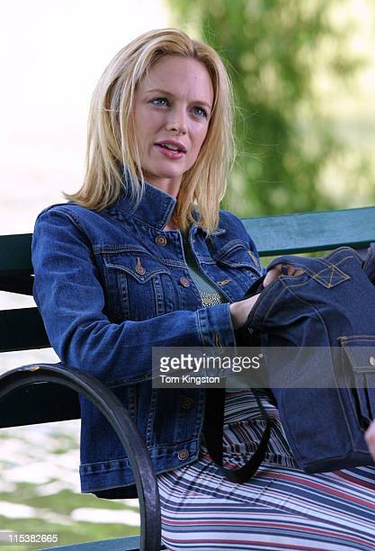 Heather Graham during On The Set of 'The Guru' at Central Park in New York City New York United States
