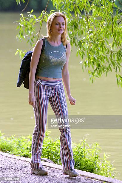 Heather Graham during On The Set of The Guru at Central Park in New York City New York United States