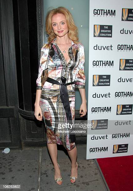 Heather Graham during The Creative Coalition Gala Hosted by Gotham Magazine December 18 2006 in New York City New York United States