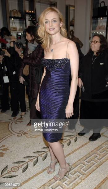 Heather Graham during Versace Celebrates the ReOpening of the Fifth Ave Boutique at Versace Boutique in New York City New York United States