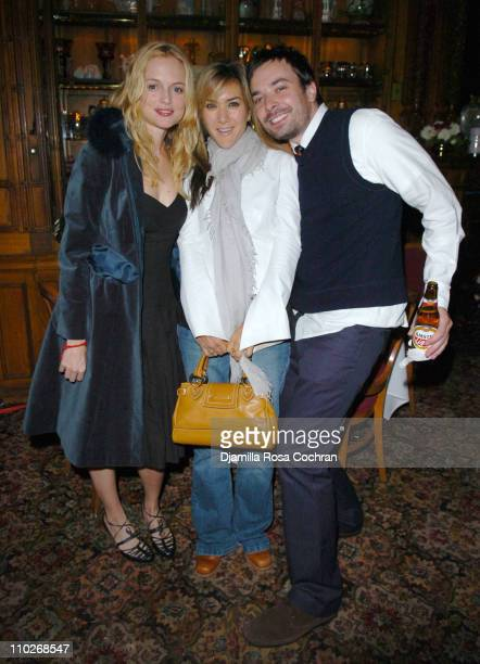 Heather Graham, Nadia Dajani and Jimmy Fallon during Jimmy Fallon's Birthday Party - September 24, 2005 at The National Arts Club in New York City,...
