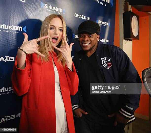 Heather Graham visits 'Sway in the Morning' with Sway Calloway on Eminem's Shade 45 at SiriusXM Studios on April 3 2015 in New York City