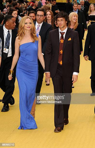 Heather Graham with her boyfriend Yanif Raz attend the UK premiere of 'The Hangover' at Vue West End on June 10 2009 in London England