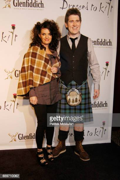 Heather Greene and Andy Weir attend DRESSED TO KILT Fashion Show at M2 Lounge on March 30 2009 in New York City
