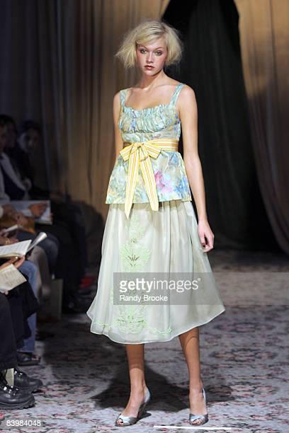 Heather Hahn wearing James Coviello Spring 2006