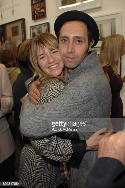 Heather Harmon and Ader Abergel attend LAXART Benefit Auction at LAXART on November 15 2009 in Culver City California