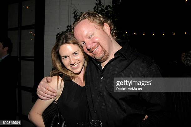Heather Harmon and Guest attend The ARMORY SHOW 2008 Dinner Hosted by QUINTESSENTIALLY at The Gramercy Park Hotel Rooftop on March 26, 2008 in New...
