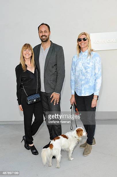 Heather Harmon, Justin Gilanyi and Samantha Thomas attend Kohn Gallery Grand Opening And Inaugural Exhibition: Mark Ryden: Gay Nineties West on May...