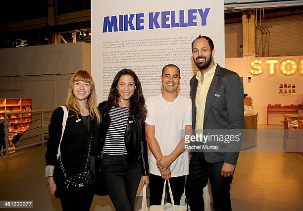 Heather Harmon Marianna Chin Tofer Chin and Justin Gilanyi attend the Mike Kelley exhibition media preview at The Geffen Contemporary at MOCA on...