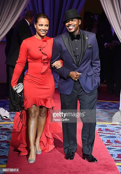 Heather Hayslett and producer Will Packer arrive at the 31st Annual UNCF Mayor's Masked Ball at Marriott Marquis Hotel on December 20 2014 in Atlanta...