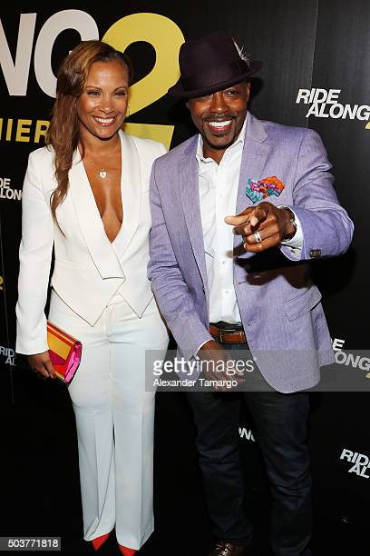 Heather Hayslett and Will Packer are seen arriving at the world premiere of the film Ride Along 2 on January 6 2016 in Miami Beach Florida