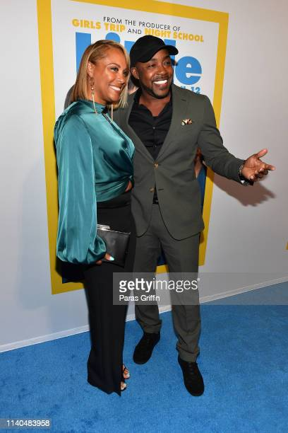 Heather Hayslett and Will Packer attend Little Atlanta red carpet screening at Regal Atlantic Station on April 04 2019 in Atlanta Georgia