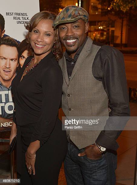 Heather Hayslett Packer and Will Packer attend Truth Be Told private dinner at Cucina Asellina on October 15 2015 in Atlanta Georgia