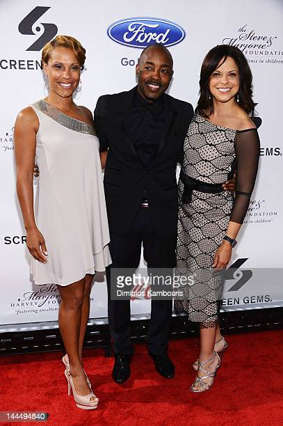 Heather Hayslett Will Packer and Soledad O'Brien attend Screen Gems Presents The Steve Marjorie Harvey Foundation Gala at Cipriani Wall Street on May...