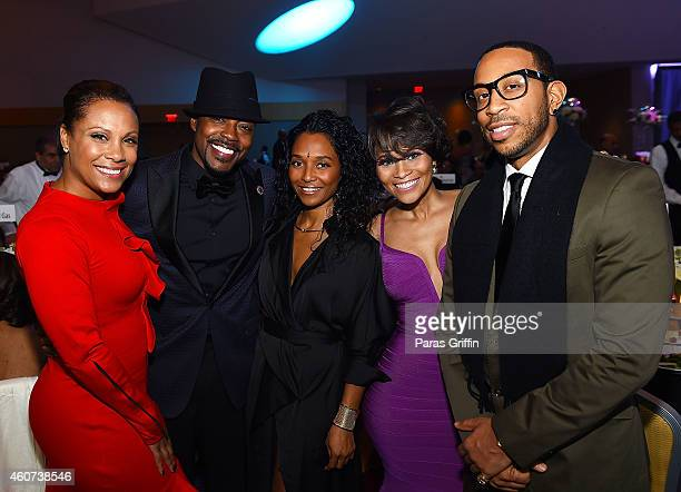 Heather Hayslett Will Packer Rozonda 'Chilli' Thomas Terrinee L Gundy and Chris Ludacris Bridges attend the 31st Annual UNCF Mayor's Masked Ball at...