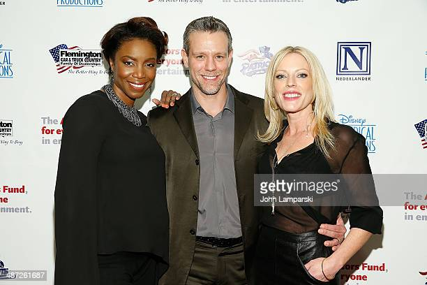 Heather Headley Adam Pascal and Sherie Rene Scott attends after party for The Actors Fund Gala Celebrating 20 Years Of Disney On Broadway at The New...