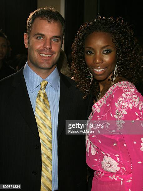 Heather Headley and Brian Musso attend 2006 Clive Davis PreGRAMMY Awards Party Arrivals at Beverly Hilton on January 13 2006 in Beverly Hills CA