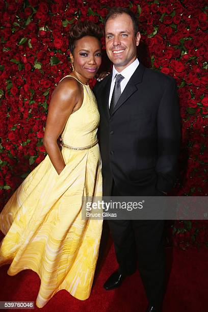 Heather Headley and Brian Musso attend the 70th Annual Tony Awards at The Beacon Theatre on June 12 2016 in New York City