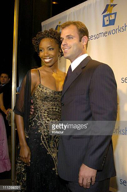 Heather Headley and Brian Musso during Diane Sawyer and Elmo Host Sesame Workshop's 2nd Annual Benefit Gala at Cipriani in New York City New York...