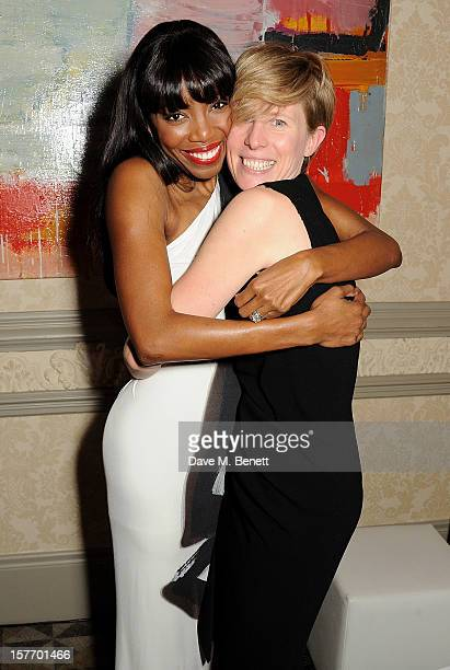 Heather Headley and director Thea Sharrock attend an after party celebrating the press night performance of 'The Bodyguard' at on December 5 2012 in...