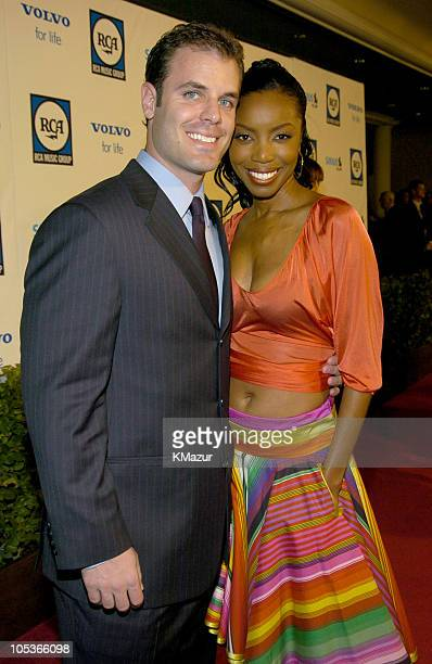 Heather Headley and husband Brian Musso during 2004 Clive Davis PreGrammy Party Inside Arrivals at Beverly Hills Hotel in Beverly Hills California...