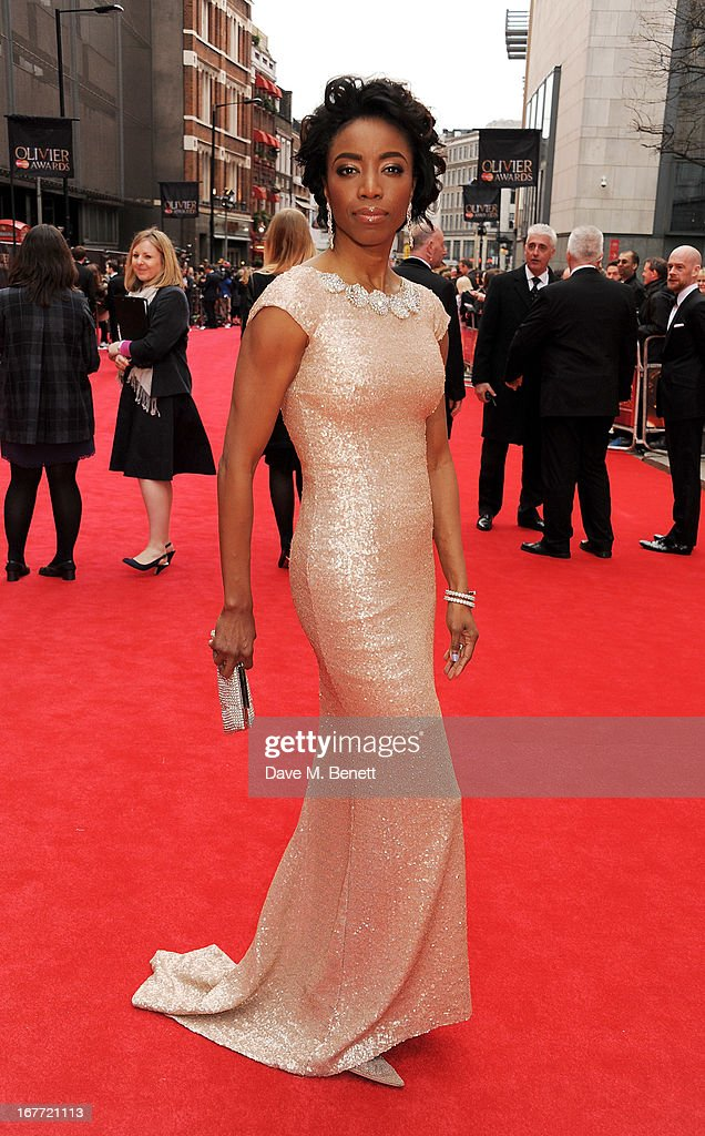 Heather Headley arrives at The Laurence Olivier Awards 2013 at The Royal Opera House on April 28, 2013 in London, England.