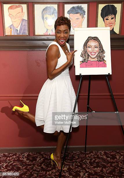 Heather Headley attend the unveiling of Heather Headley's Portrait on the Sardi's Wall of Fame at Sardi's Restaurant on August 9 2016 in New York City