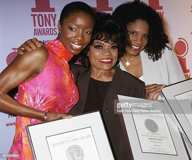 Heather Headley Eartha Kitt and Audra McDonald get together at the Tony Awards nominees' luncheon at Sardi's Headley and McDonald are competing for...