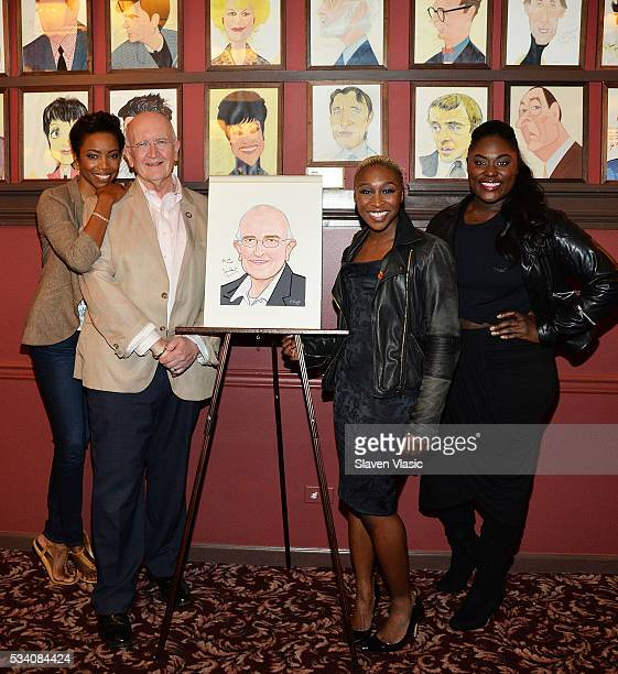 Heather Headley John Doyle Cynthia Erivo and Danielle Brooks attend Mr Doyle's caricature unveiling at Sardi's on May 24 2016 in New York City