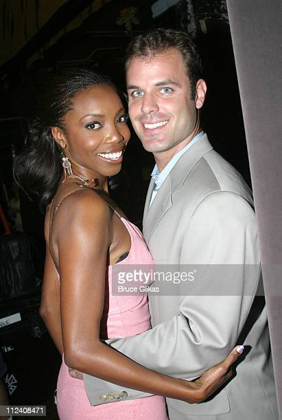 Heather Headley with husband Brian Musso during Heather Headley And Clay Aiken Perform In 'Home' at The New Amsterdam Theater in New York NY United...
