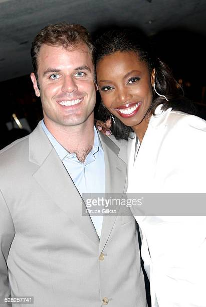 Heather Headley with husband Brian Musso during Heather Headley And Clay Aiken Perform In Home at The New Amsterdam Theater in New York NY United...