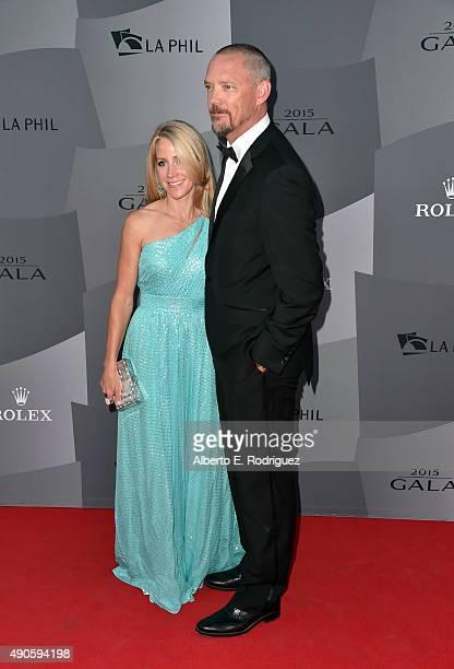 Heather Helm and actor Matthew Lillard attend The Los Angeles Philharmonic 2015/2016 Season Opening Night Gala at the Walt Disney Concert Hall on...