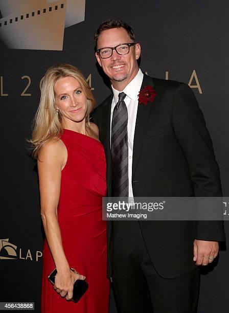 Heather Helm and actor Matthew Lillard attends Los Angeles Philharmonic's Walt Disney Concert Hall Opening Night Gala on September 30, 2014 in Los...