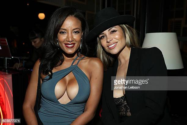 Heather Hemmens and Zulay Henao at the #BETCHESxJUSTFAB Event on November 15 2016 at The Doheny Room in West Hollywood California