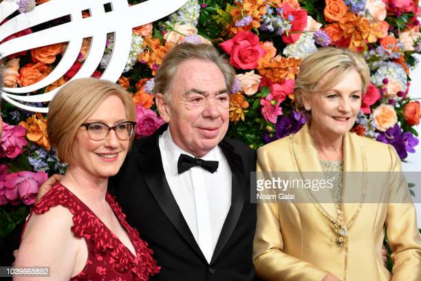 Heather Hitchens Andrew Lloyd Webber and Madeleine Gurdon attend the American Theatre Wing Centennial Gala at Cipriani 42nd Street on September 24...