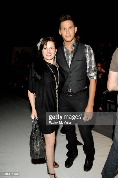Heather Holley and Official Hank attend Richie Rich 2011 Fashion Show at The Studio at Lincoln Center on September 9 2010 in New York City