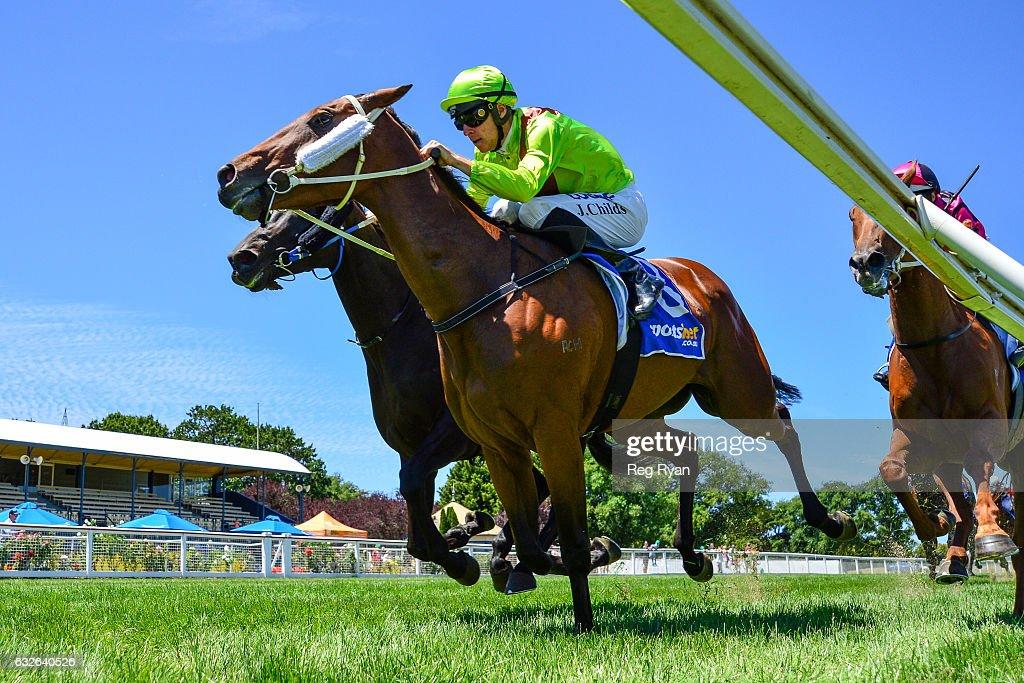 Heather Honey ridden by Jordan Childs wins C.E. Bartlett Maiden Plate at Sportsbet-Ballarat Racecourse on January 25, 2017 in Ballarat, Australia.