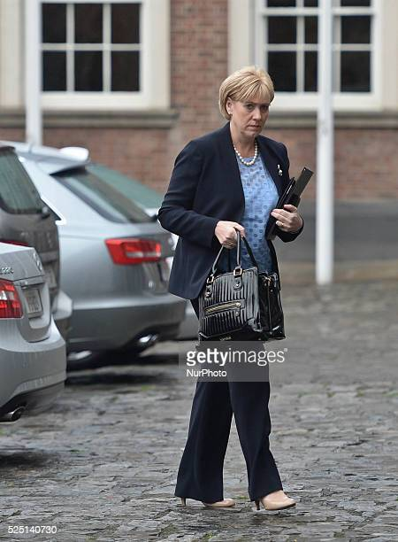 Heather Humphreys, Irish Arts, Heritage and Gaeltacht Minister, arrives at the North South Ministerial Council held this Friday, 4 July 2014, in...