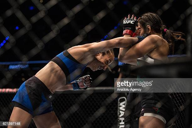 Heather Jo Clark of the United State in action against Alexa Grasso of Mexico during the UFC Fight Night at the Arena Ciudad de Mexico in Mexico City...