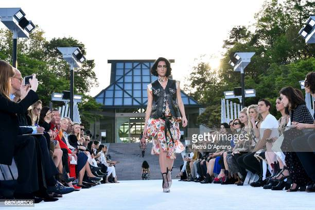 Heather Kemesky showcases the design on runway during the Louis Vuitton Resort 2018 show at the Miho Museum on May 14 2017 in Koka Japan